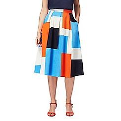 Principles by Ben de Lisi - Multi-coloured striped print skirt