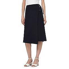 Principles by Ben de Lisi - Black buckle wrap midi skirt