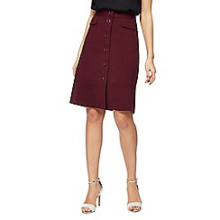 Principles by Ben de Lisi - Dark red A line skirt