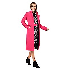 Principles by Ben de Lisi - Bright pink longline city coat