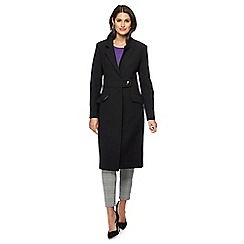 Principles by Ben de Lisi - Black longline city coat