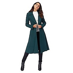 Principles by Ben de Lisi - Dark green fit and flare longline coat