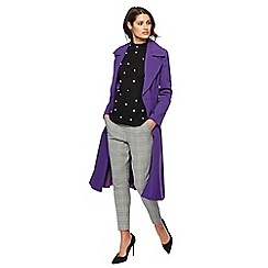 Principles by Ben de Lisi - Purple fit and flare coat