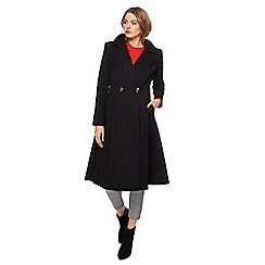 Principles by Ben de Lisi - Black fit and flare coat