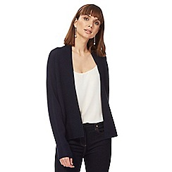 Principles by Ben de Lisi - Navy textured edge to edge cardigan