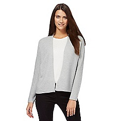 Principles by Ben de Lisi - Grey textured edge to edge cardigan