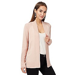 Principles by Ben de Lisi - Pink textured trim cardigan