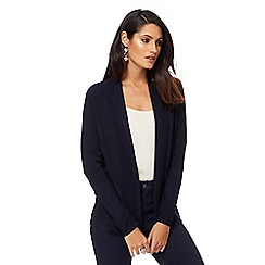 Principles by Ben de Lisi - Navy textured trim cardigan