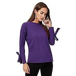 Principles by Ben de Lisi - Purple tie sleeves jumper