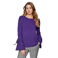 Principles by Ben de Lisi - Purple flared sleeves jumper