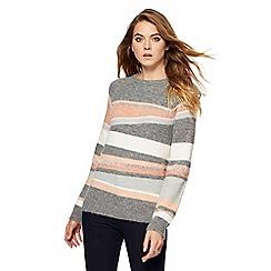 Principles by Ben de Lisi - Grey striped jumper