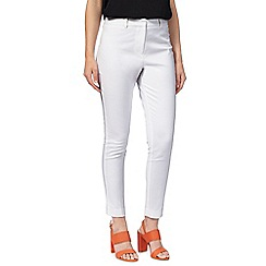 Principles Petite by Ben de Lisi - White cotton stretch trousers
