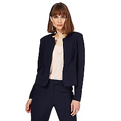 Principles by Ben de Lisi - Navy textured cropped jacket