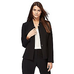 Principles Petite by Ben de Lisi - Black peplum jacket