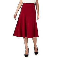 Principles by Ben de Lisi - Dark red wrap suit skirt