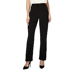 Principles Petite by Ben de Lisi - Black straight leg trousers