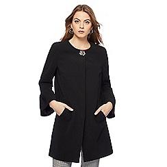 Principles by Ben de Lisi - Black frill sleeve manteau coat
