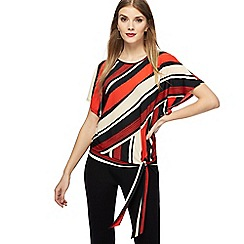 Principles - Red striped jersey top