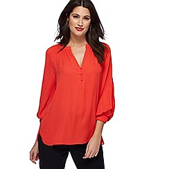 Principles by Ben de Lisi - Red pleated sleeve blouse