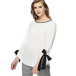 Principles - White tie sleeves blouse