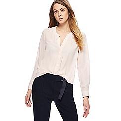 Principles - Light pink mini ray print notch neck shirt