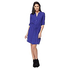 Principles - Royal blue V-neck knee length shirt dress