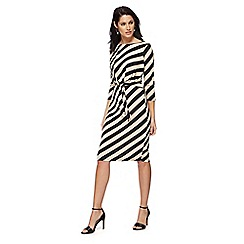Principles - Black block striped dress