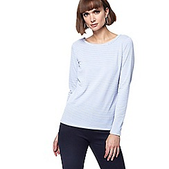Principles - Blue jersey striped top