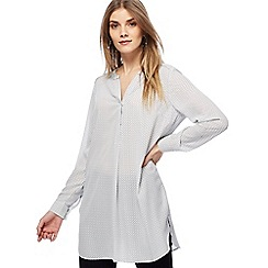 Principles - White spotted longline shirt