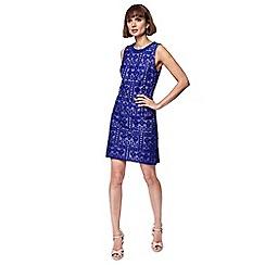 Principles - Blue lace mini shift dress
