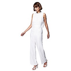Principles - Ivory lace jumpsuit