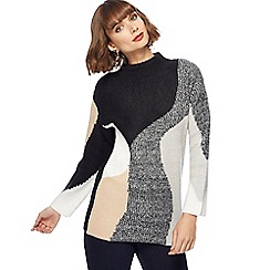 Principles by Ben de Lisi - Black swirl block jumper