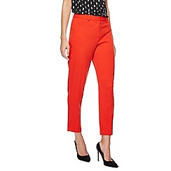 Principles Petite by Ben de Lisi - Red straight leg trousers