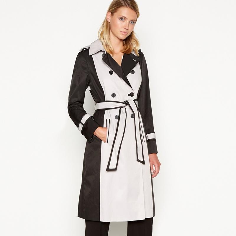 8775f92a3fddc Principles - Black Colour Block Rain Resistant Trench Coat