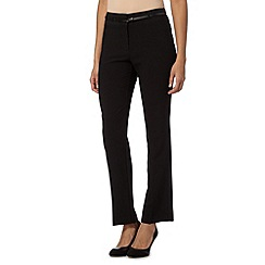 Principles by Ben de Lisi - Designer black straight leg belted trousers