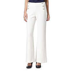 Principles by Ben de Lisi - Designer ivory crepe button trousers