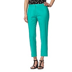 Principles by Ben de Lisi - Designer turquoise seam detail cropped trousers