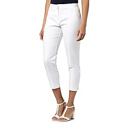 Principles by Ben de Lisi - Designer white seam detail cropped trousers