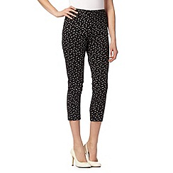 Principles by Ben de Lisi - Designer black piquet print trousers