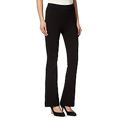 Principles Petite by Ben de Lisi - Designer black kick flare pull-on trouser