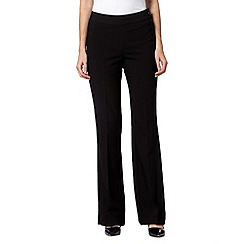 Principles by Ben de Lisi - Designer black side zip bootleg trousers