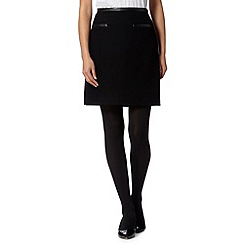 Principles by Ben de Lisi - Designer black diamond textured mini skirt