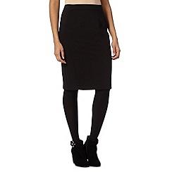 Principles Petite by Ben de Lisi - Petite designer black smart skirt