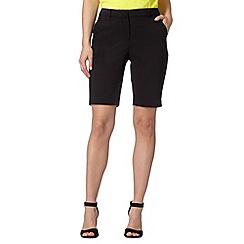 Principles Petite by Ben de Lisi - Designer black smart cotton shorts