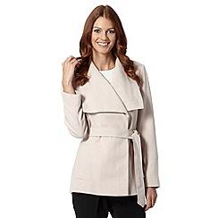 Principles by Ben de Lisi - Designer light pink short wrap coat