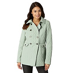 Principles by Ben de Lisi - Designer light green quilted jacket
