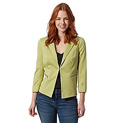Principles by Ben de Lisi - Designer light green honeycomb textured blazer
