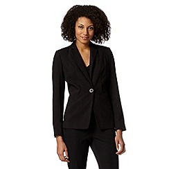 Principles Petite by Ben de Lisi - Petite designer black piped suit jacket