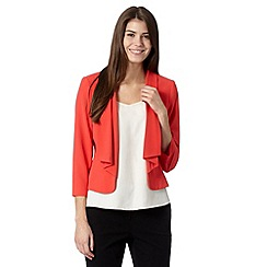 Principles Petite by Ben de Lisi - Petite designer bright red waterfall jacket