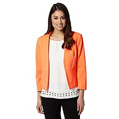 Principles Petite by Ben de Lisi - Petite designer bright orange textured jacket